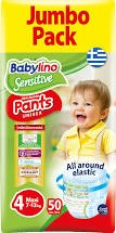 BABYLINO SENSITIVE PANTS N.4 7-13kg  50τμχ